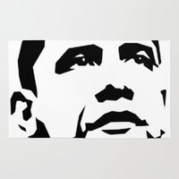 obama Area & Throw Rugs featuring barak obama by b & c