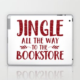 Jingle All The Way To The Bookstore (Red) Laptop & iPad Skin