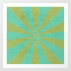 green and mint starburst Art Print