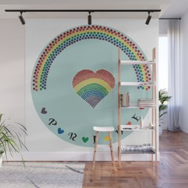 Rainbow Heart LGBTQ Pride Wall Mural