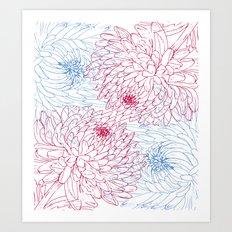 Floral composition Art Print