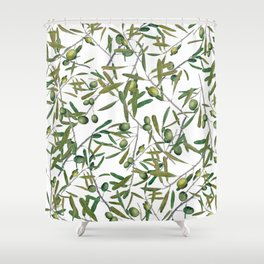 olive pattern Shower Curtain