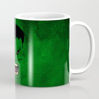 monster inc Mugs featuring Monster Green by Inara
