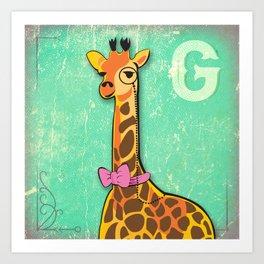 G for Giraffe Art Print