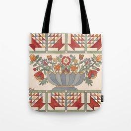 Applique Florals Tote Bag