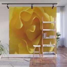 Yellow Rose Ruffles Abstract Wall Mural