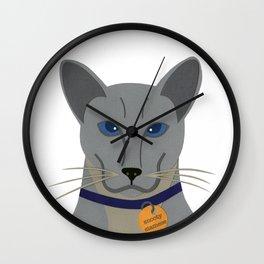 Cheeky Siamese Cat Wall Clock