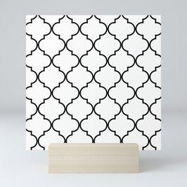 Quatrefoil - black on white Mini Art Print
