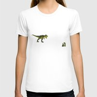 trex T-shirts featuring Dinosaurs vs Toy Soldiers by Andrea Vietti