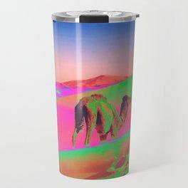 Psychedelic Sand Dunes 2 - Rainbow Travel Mug