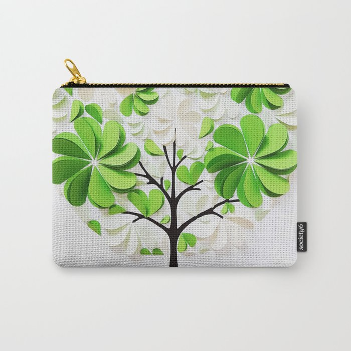Green tree Carry-All Pouch