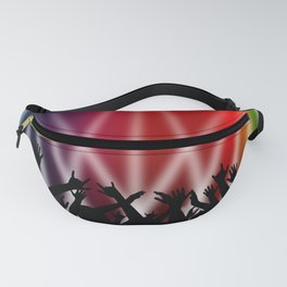 Dancing Crowd With Multi Colour and White Spotlights Fanny Pack