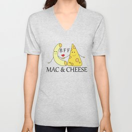 Mac & Cheese Best Friends Forever Unisex V-Neck