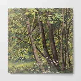 "Ivan Shishkin ""Forest flowers"" Metal Print"