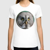 grey T-shirts featuring GREY OWL by Catspaws