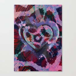 Candy Hearts 1 Canvas Print