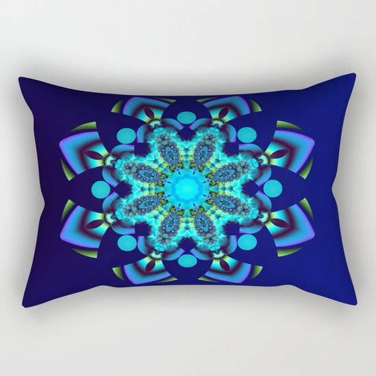 Geometric kaleidoscope flower Rectangular Pillow