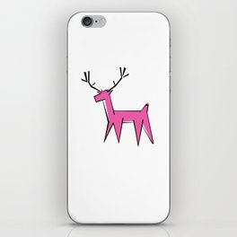Pink deer  iPhone Skin