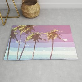 Retro Coconut Trees Art Rug
