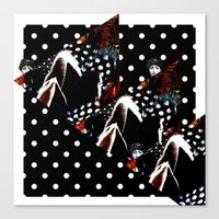 polka Canvas Prints featuring : polka : by Bauerhorst