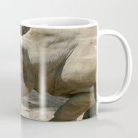 rhino Mugs featuring Rhino by Cindy Munroe Photography