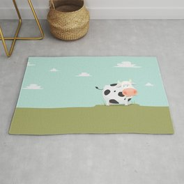 Happy fat cow Rug