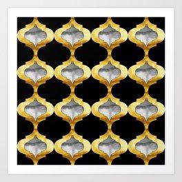 Alhambra Glam Quatrefoil Pattern Art Print
