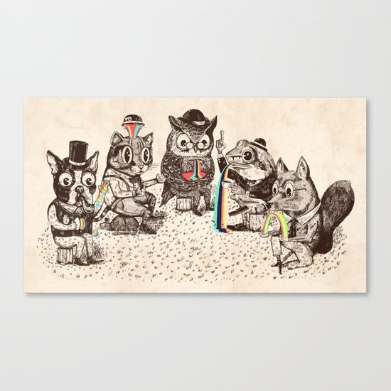 Strange Animals Canvas Print