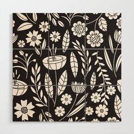 Blooming Field - black Wood Wall Art