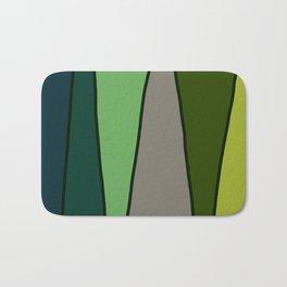 Green Abstract Pattern Turtle Bath Mat