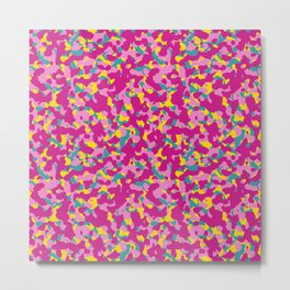 Flowerly Camouflage Metal Print