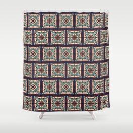 Festive Boho Talavera Tile Shower Curtain