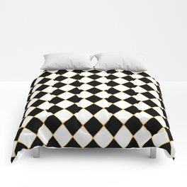 Chess board with golden threads Comforters