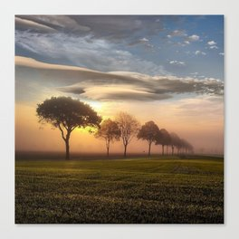 Big sky and clouds on a picture perfect night Canvas Print