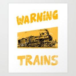 Freight trains Locomotive Steam railway Railroad Art Print