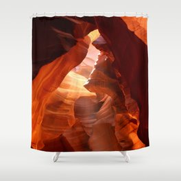 A Canyon Sculptured By Water Shower Curtain