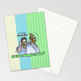 The Amazing Psych-Man & The Magic-Head - Psych quotes Stationery Cards