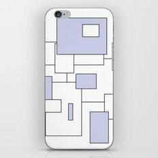 Squares - blue and white. iPhone & iPod Skin