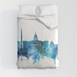 Washington DC Skyline Comforters