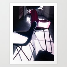 Art Studio Chairs Art Print