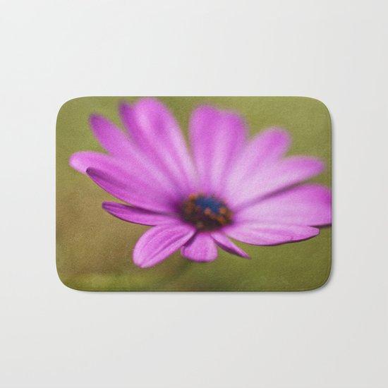 Purple Textured Flower II Bath Mat