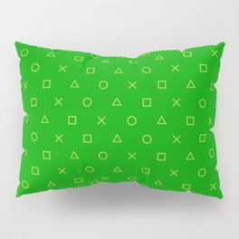 Green Gamer Pattern Pillow Sham
