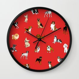 Dog breeds! Wall Clock