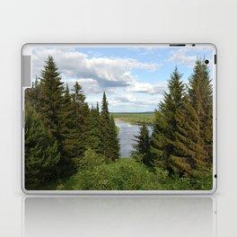 Landscape view on the taiga in Kargort village in Komi Republic of Russia. Laptop & iPad Skin