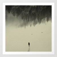 silent Art Prints featuring Silent walk by Andreas Lie