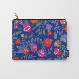 Pomegranate pattern electric blue Carry-All Pouch