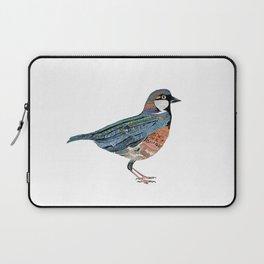 Typographic Sparrow Laptop Sleeve