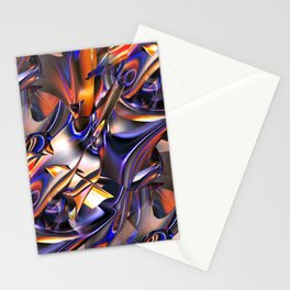 Iridescent Copper Metallic Patina Abstract Stationery Cards
