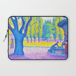 12,000pixel-500dpi - Paul Signac - Saint-Tropez, fountain of the Lices - Digital Remastered Edition Laptop Sleeve
