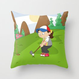 Non Olympic Sports: Golf Throw Pillow